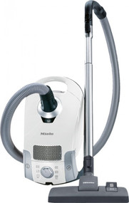 Miele Compact C1 Pure Suction Vacuum White The Miele Compact C1 packs powerful cleaning into a lightweight, compact canister vacuum at an entry-level price. Its universal floor head smoothly transitions across the varied terrain of your home, from hardwood to carpeting, with the click of a foot rocker switch.