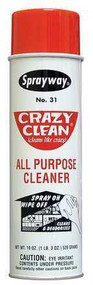 CRAZY CLEAN is a fantastic all purpose cleaner.  It's foaming action works quickly and is safe to use on most surfaces. Crazy Clean removes grease and grime instantly.  It works great on windows, appliances, carpets, auto interiors, counter tops, kitchen cabinets, door knobs, aluminum window and door frames, sinks and bathroom fixtures. Let us know when you find an interesting application! How to clean Stainless Steel: Crazy Clean is the correct product for cleaning stainless steel appliances. It removes grease splatter quicker and easier. To preserve the stainless steel finish and prolong cleaning intervals, apply Bee's Wax. Bee's Wax lays down a protective coating sealer that enables you to wipe clean the surface with only a damp sponge or cleaning cloth, without using additional applications of cleaner.