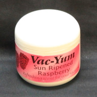 Vac-Yum Sun Ripened Raspberry Vacuum Scent. Refreshing scent for your vacuum. Place 1 tablespoon of VacYum inside a new vacuum bag. If you have a bagless vacuum, you can place a tablespoon of Vac Yum in the dirt cup. Sold each in a 1.8 ounce jar (51g).