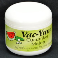 Vac-Yum Cucumber Melon Vacuum Scent. Refreshing scent for your vacuum. Place 1 tablespoon of VacYum inside a new vacuum bag. If you have a bagless vacuum, you can place a tablespoon of Vac Yum in the dirt cup. Sold each in a 1.8 ounce jar (51g).