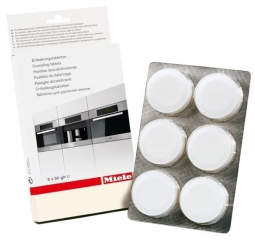 Cleaning agent tablets (6 count) for removing mineral deposits from the heating element and water pathways.