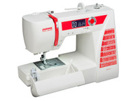 The Janome DC2015 brings the features you need to complete any project: home dec, garment sewing, scrap booking, or quilting. 60 stitches, including 6 buttonholes, give essential variety for your diverse sewing needs. You'll also find a variety of easy convenience features, including an auto-lock button, easy reverse and a speed control slider. The DC2015 also features the stability and dependability you expect only from a high end machine, allowing you to sew with precision and confidence.