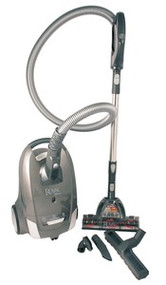 A whole house vacuum suitable for cleaning floors, rugs, woodwork and furniture. The turbo floor tool has a spinning brush to groom and lift carpet pile.