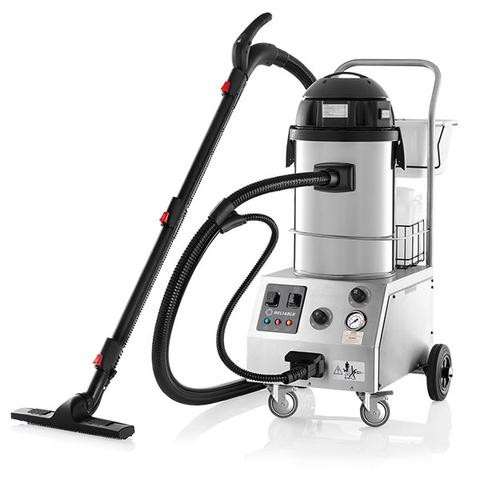 The Tandem Pro 2000CV is a complete multi-use commercial cleaning unit. It functions as a steam cleaner and steam extractor as well as a wet/dry vacuum. The 6-bar steam pressure and an accessory kit that is second to none make the Tandem Pro an ideal chemical-free alternative for cleaning and sanitizing all surfaces encountered in commercial cleaning settings.