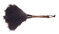 "13"" Ostrich Feather Duster: Handy, versatile size duster. Great for dusting delicate items."
