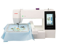 The features and design functions of the Memory Craft 500E are exceptional, including: 160 Built-In designs, 6 fonts for monograms and the ability to digitally import and edit designs using the USB port and on-screen editing functions on the LCD touchscreen.