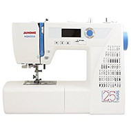 The NQM2016 is a limited edition 2016 model that features the stability and dependability you expect only from a high-end machine. The machine comes with 60 built-in stitches, including 6 one-step buttonholes that give you essential variety for your diverse sewing needs.  This powerful machine includes cutting-edge features to make your sewing much easier. Utilize an automatic thread cutter, start/stop button, locking stitch button, memorized needle up/down and speed control slider. The backlit LED screen with easy navigation buttons makes finding stitches a breeze.