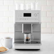 From coffee to cappuccino, Miele's CM6110 Countertop Coffee System has your order at the touch of a button. Boasting a quiet performance and easy-to-clean design, this super convenient brewer serves up your favorite coffee drinks with less fuss and mess.