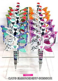 "Cat Scissor - Assorted colors Cat Scissor - 3.5"" Butterfly Embroidery scissor"