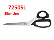 The Kai 7250SL is a 10-inch professional shear, ideal for thicker, more difficult fabrics.  The 7250SL - Slim-line professional shear is designed to be a lighter, more maneuverable scissor, that still maintains its superior cutting performance.