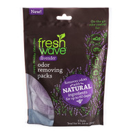 Introducing Fresh Wave Lavender Odor Removing Packs: The same odor removing power of Fresh Wave, now infused with lavender oil. Known for its calming properties, the addition of lavender gives a boost to our trusted Fresh Wave best sellers. Now you can remove odors with lasting, relaxing lavender essence.