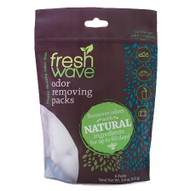 odor removing packs SKU: 055 Rated:  Empty Star  Empty Star  Empty Star  Empty Star  Empty Star Each bag contains 6 odor-removing Packs. Toss one in a small space or stick in place using a Fresh Wave Fresh Pod. Notice big-time odor removal. Do a happy dance. Fresh Wave Packs will remove odors for 30-60 days! Reseal this bag to keep the other Packs freshtastic.