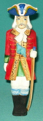 RUSSIAN HANDCARVED & HANDPAINTED SOLDIER STATUETTE