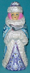 A FABULOUS BLUE & WHITE HAND PAINTED RUSSIAN SNOWMAIDEN #7699