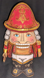 NUTCRACKER SOLDIER – HAND CARVED & PAINTED WOODEN RUSSIAN STATUE #2629