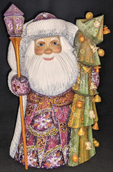 RUSSIAN SANTA CLAUS – CHRISTMAS TREE w/DANGLY ORNAMENTS #2830 HANDPAINTED STATUE