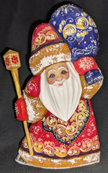 A DELIGHTFUL HAND PAINTED RUSSIAN SANTA CLAUS #0719