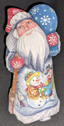 HAND PAINTED SANTA CLAUS #6084 w/SNOWMEN CELEBRATING CHRISTMAS