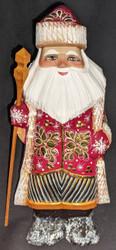 Golden Jacket / Vest - Hand Painted Russian Golden Uzor Santa Claus #9149