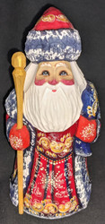 GORGEOUS HAND PAINTED RED & GOLD RUSSIAN GRANDFATHER FROST / SANTA #4826
