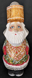 A WONDERFUL HANDPAINTED RUSSIAN SANTA CLAUS w/ TSAR STYLE HAT & BACKPACK #2605