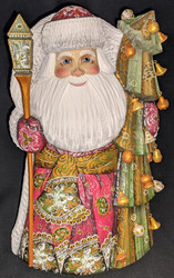 RUSSIAN SANTA CLAUS – CHRISTMAS TREE w/DANGLY ORNAMENTS #2812 HANDPAINTED STATUE