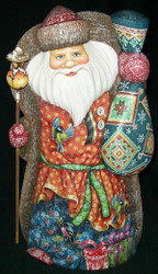 VERY BEAUTIFUL HAND CARVED & HAND PAINTED RUSSIAN SANTA/GRANDFATHER FROST #6555