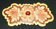 RUSSIAN SIBERIAN BIRCH BARK HAND CRAFTED BARRETTE #5871