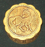FOREST FOX ON A HANDCRAFTED SIBERIAN BIRCH BOX #0011