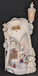 WOW! LOVELY SCENIC HAND PAINTED SANTA CLAUS #8044 w/ VICTORIAN CHRISTMAS SCENES