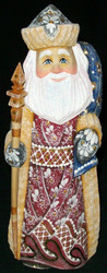HAND PAINTED GORGEOUS RUSSIAN SANTA #5352 HAND CARVED & PAINTED WOODEN STATUE