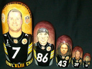 Pittsburgh Steelers SUPER BOWL XLIII CHAMPS 5pc Nesting Set #3663