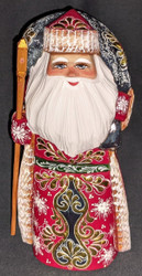 BEAUTIFUL RUSSIAN HAND PAINTED GOLDEN UZOR SANTA CLAUS / GRANDFATHER FROST #3685