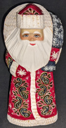 EXQUISITE GOLDEN UZOR HAND PAINTED RUSSIAN SANTA CLAUS #7014 GOLDEN FLOWER