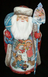 WOW! STUNNING HAND PAINTED SANTA - WINTER WONDERLAND SCENES #4537