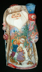 WOW! LOVELY HAND PAINTED SANTA - WINTER WONDERLAND SCENES #7939
