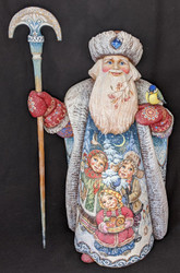WOW! MAGNIFICENT HANDPAINTED RUSSIAN GRANDFATHER FROST 4621 CHILDREN w/ SUSHKI