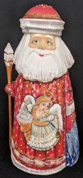 BEAUTIFUL SWEET ANGEL w/HALO ON HAND PAINTED RUSSIAN SANTA CLAUS #5936