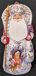 BEAUTIFUL RUSSIAN HAND PAINTED SANTA CLAUS w/ TRADITIONAL SNOW MAIDEN #4289