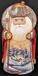 BEAUTIFUL HAND PAINTED SCENIC SANTA #1491 RUSSIAN ORTHODOX CHURCH w/ONION DOMES