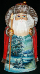 BEAUTIFUL HAND PAINTED SCENIC SANTA CLAUS #1465 RUSSIAN COUNTRYSIDE