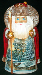 BEAUTIFUL HAND PAINTED SCENIC SANTA CLAUS #1506 RUSSIAN COUNTRYSIDE
