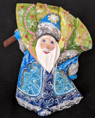 A WONDERFUL HANDPAINTED BLUE & WHITE RUSSIAN SANTA / GRANDFATHER FROST #0691