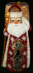 FUN HAND PAINTED RUSSIAN GOLDEN UZOR SANTA CLAUS w/ PACK BURSTING w/ TOYS #3995