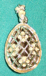 GORGEOUS Russian Faberge Egg Charm YELLOW & SILVER #1793