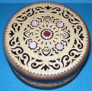 White Flowers #1537 - Intricately Handcrafted Russian Nutwood & Birch Box