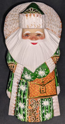 MARVELOUS HAND PAINTED RUSSIAN GOLDEN UZOR SANTA CLAUS w/MAIL SATCHEL #6949