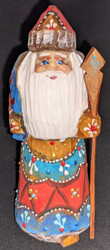 A BEAUTIFUL LITTLE HAND PAINTED RUSSIAN SANTA CLAUS #5161