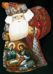 DIVINE HAND PAINTED RUSSIAN SANTA CLAUS – NATIVITY SCENE #1367