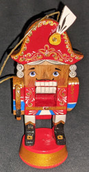 WOW! UNBELIEVABLE HAND CARVED & HAND PAINTED RUSSIAN NUTCRACKER ORNAMENT #6555